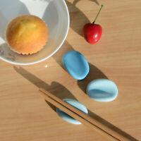 4X Tianlan Bean Chopstick Rest Spoon Fork Tableware Pen Holder Stand Home Decor