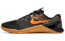 Nike Men's Metcon 3 Real Tree Sz 9.5 Black Camo Orange Training Shoes AJ5145 021