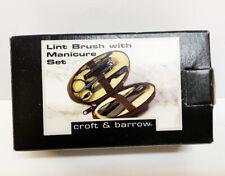 New Croft & Barrow Travel Manicure Set & Lint Brush Case Set Shoe Horn