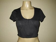 Free People Movement Short Sleeve Cotton Crop Top Size S gray