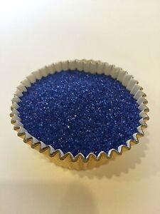 Edible Royal Blue Sanding Sugar Sprinkles Confetti cupcake cakes cookies 4oz
