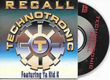 TECHNOTRONIC - Recall CD SINGLE 2TR Cardsleeve 1995 Eurodance (ARS) Belgium