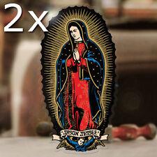2x morceau de Santa Cruz Sticker Virgin de Guadeloupe autocollant Jason Jessee 150 mm