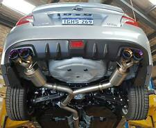 """Unknown Performance V2 3"""" Turbo Back Exhaust WRX MY15/16/17 Burnt Dual Wall Tips"""