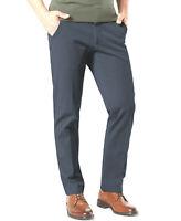 DOCKER Workday Khaki Pants Straight Smart 360 Flex Waist Security Pocket Stretch