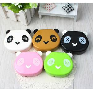 Travel Portable Panda Design Contact Lens Case Storage Box Holder Container  Hx