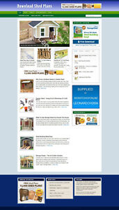 SHED PLANS WEBSITE WITH NEW DOMAIN AND HOSTING + AFFILIATES