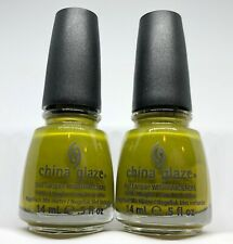 China Glaze Nail Polish BUDDING ROMANCE 1151 Slightly Murky Green Jelly Lacquer