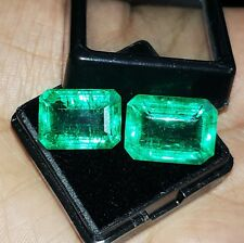 Natural Emerald Loose Gemstone 8 to 10 cts 2 Certified Pair Best Offer