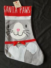 Pet Cat 39cm Christmas Stocking – Santa Paws - Unfilled