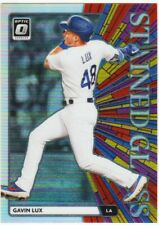 GAVIN LUX RC 2020 DONRUSS OPTIC ROOKIE STAINED GLASS HOLO SILVER PRIZM SP # SG-6