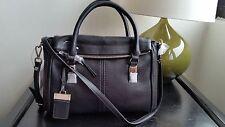 NWT - Nine West City Chic Collect Black Leather Shoulder bag