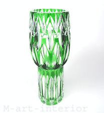 Carl Goldberg Vase Übergnag Glas Schliff Dekor Art Glass Böhmen Haida um 1915