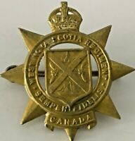 The West Nova Scotia Regiment Cap Badge with King's Crown