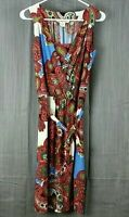 Colorful Women's Sleeveless Dress by Studio West Apparel Size Large