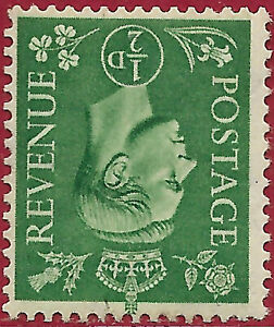GB 1941 1/2d pale green GVI wmk inverted sg 485wi  MH.