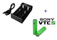 Caricabatterie con 2 canali di ricarica  indipendenti + 2 Sony VTC5 18650