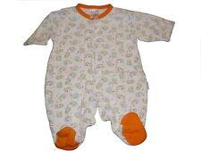 Baby Butt toller Schlafanzug Gr. 50 / 56 weiß-orange mit Igel Motiven !!