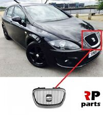 FOR SEAT LEON 2009 - 2012 NEW FRONT BUMPER CENTER GRILL BLACK / CHROME