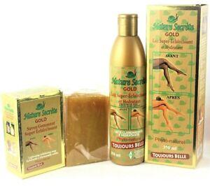 NATURE SECRET (Gold) Super Lightening Lotion +Face & Body Soap  7 days results