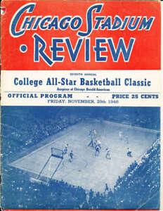 Nov 29 1946 College All Star Basketball Program NBA7