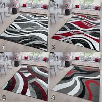 Modern Rug Cheap Price New Large Small Wave Design Floor Rugs Mat SALE DISCOUNT