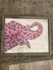 Sugarboo designs Love To You Wood Painting 19.75in X 15.75in