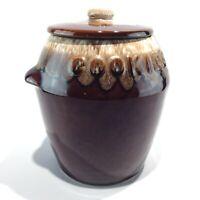 Vintage McCoy Pottery KATHY KALE Brown Drip Cookie Jar - MADE IN USA