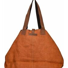 Vintage Addiction Jute And Leather Tote Bag
