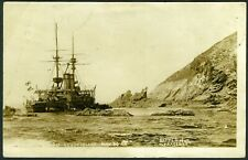 More details for 005-jlu : sepia r.p. - hms montagu - very early - p. marked 11 jun 1906 see desc