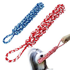Dog Chew Toys for Aggressive Chewers Indestructible Braided Cotton Rope Pet Tug