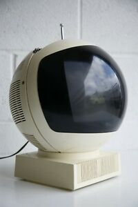 Rare Vintage Retro 1960s 1970s Modernist JVC Videosphere Television TV Space Age
