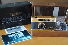 Contax T2 Gold Limited Edition 60Years Nuova