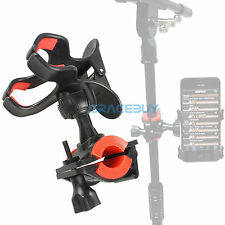 Universal Microphone Mic Stand Phone Holder for iPhone Samsung Smart Phones US