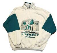 Vintage 90s San Francisco Color Block Jacket Sailboat Surf Skate 50/50 XL USA