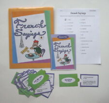 Evan Moor Vocabulary Center Educational Learning Resource Game French Sayings