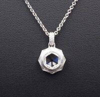 Platinum Natural Rose Cut Diamond Pendant Necklace 1.25ct GIA VVS2 G NG473