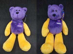 1999 Limited Treasures Pro Bear NFL Minnesota Vikings Beanie Anderson Cunningham