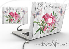 Flower Design Vinyl Wrap Skin Sticker for Apple Macbook 13 Laptop Cover Decal