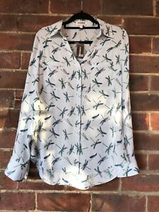 Express Women Shirt, Dragonflies Print, Size S