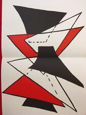 Alexander Calder, Vintage Original Lithograph, Maeght Paris, 1963 DLM Stabiles 3