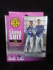 "Gold's Gym Sauna Suit Size Small Medium for 24"" -32 Waist Weight Loss New In Box"