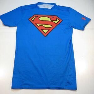 UNDER ARMOUR HEATGEAR COMPRESSION MARVEL COMICS SUPERMAN JERSEY TEE T SHIRT Sz L