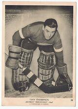 1939-40 O-Pee-Chee V301-1 Tiny Thompson # 75 Detroit Red Wings  (5 x 7 card) VG