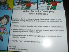 speech therapy cards Action Cards Language Skills NEW 30 pics
