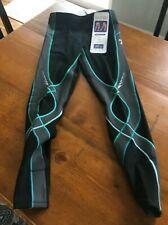 CW-X Women's Insulator Stabilyx Tights  Black/Grey/Turquoise  XS  NWT  Snowboard
