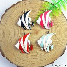 12pcs Colorful Enamel Alloy Tropical Fish Charms Pendant Jewelry Crafts 51195