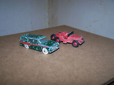 Dinky 173 Nash Rambler Station Wagon and 405 Universal Jeep - Used by Children