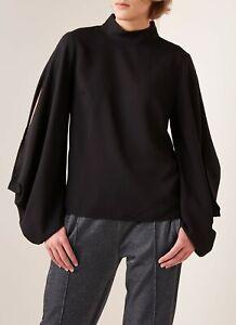 New Hugo Boss Estyna Black Blouse UK 8 RRP £170