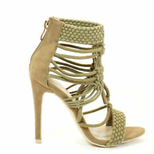 Women's Suede Strappy, Ankle Straps Standard (D) Heels